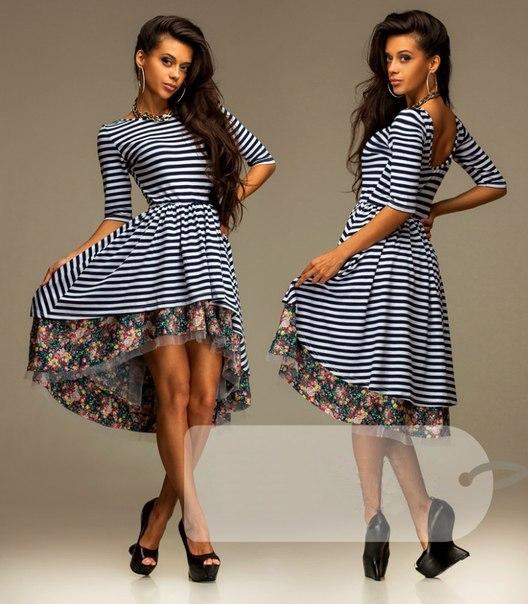 Фото полосатых платьев трикотаж