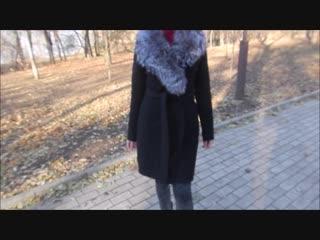 пальто в наличии в донецке черное с мехом чернобурки