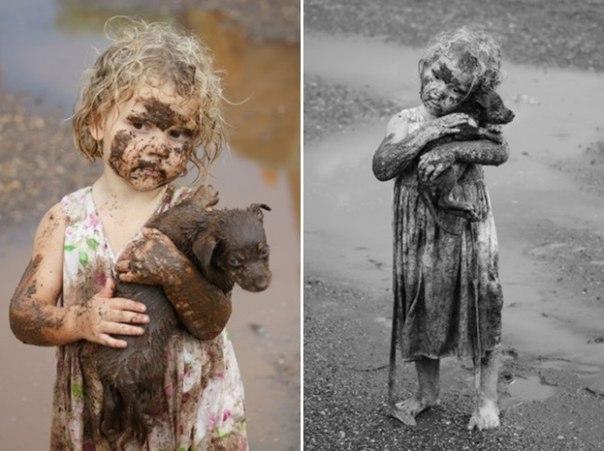 Девочка вытащила из грязевой ямы щенка. Человек — это или с детства, или никогда...