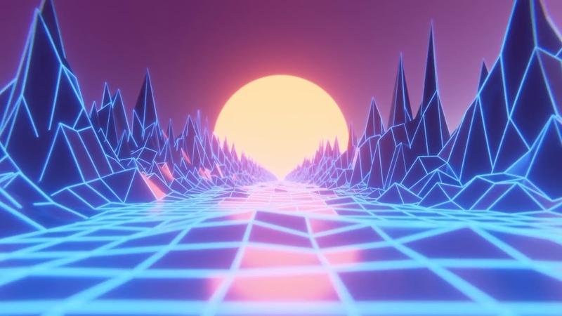 Neon Walkthrough Path | HD Relaxing Screensaver