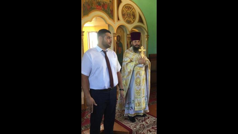 Поздравление главы города М.К. Казымова с престольным праздником