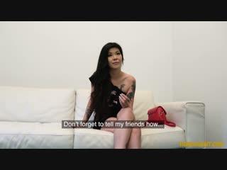[fakeagent] akasha coliun - tattooed asian chick swallows cum new porn 2018