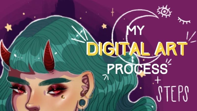 My Digital Art Process | IPad Pro and ProCreate Speedpaint | Keely Elle