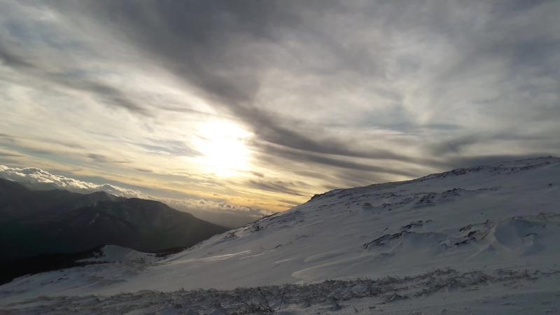 Закат на плато Чатыр-Даг
