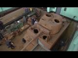 Специалисты ремонтно-восстановительного батальона ЗВО намерены завершить реставрацию американского танка времен Второй мировой