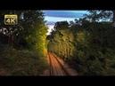 4K CABVIEW Beograd Dunav - Resnik -- Evening ride through Belgrade Railway Junction
