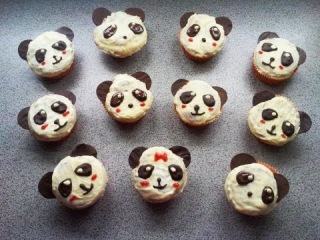How to make panda cupcake / muffin - Tremendously chocolate !
