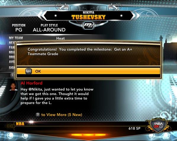 командная химия в НБА2К13