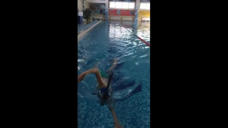 Правильная работа рук ног и туловища при плавании кролем Подопечный тренера Алексея Кудрявцева