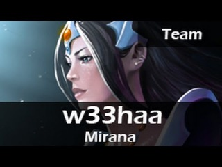 56: w33 (w33haa) as Mirana Bot, ft Dendi, Pajkatt, Alohadance - Team Gameplay