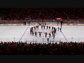 Hurricanes celebrate first win of February with a game of Duck, Duck, Goose