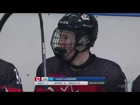 Alexis Lafreniere scores an amazing goal vs. USA @ U18 Worlds