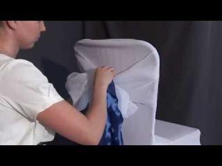 Как одеть Стрейч чехол на Стул