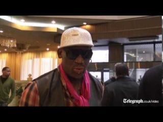 Dennis Rodman arrives with basketball team in North Korea
