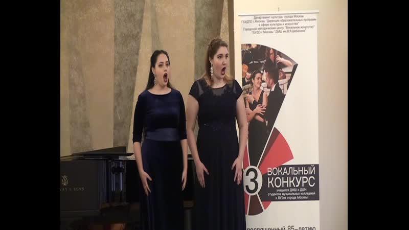 Юля Вакула и Алиса Лабутичева Сен Санс Болеро