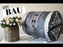 DIY Como Fazer um Baú do Tesouro usando Bombona de papelão Artesanato Do lixo ao luxo