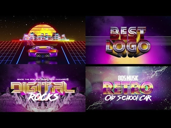 Retro Wave Logo Pack 2