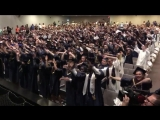 North Brunswick High School seniors perform Michael Jackson's 'Man In The Mirror' during their graduation ceremony, 2018