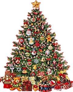 Прикрашена новорічна ялинка листівка