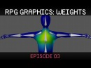 RPG graphics E03: Weight painting [Blender]