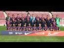 Gran sesión de fotos en el Camp Nou. Estaban felices de asistir. El Barça 2014/15.