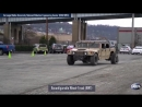 Humvee with reconfigurable wheel track DARPA GXV T