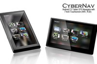 Fast GPS Navigation All winner A10 1GHz processor and...  CyberNav advanced - 7 inch Android 2.3 Tablet + GPS...