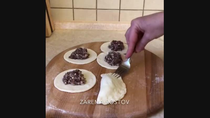 Мини чебуречки - Личный повар (Рецепт в описании под видео)
