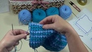 Как сменить цвет нити при вязании спицами. How to change the color of the thread when knitting.