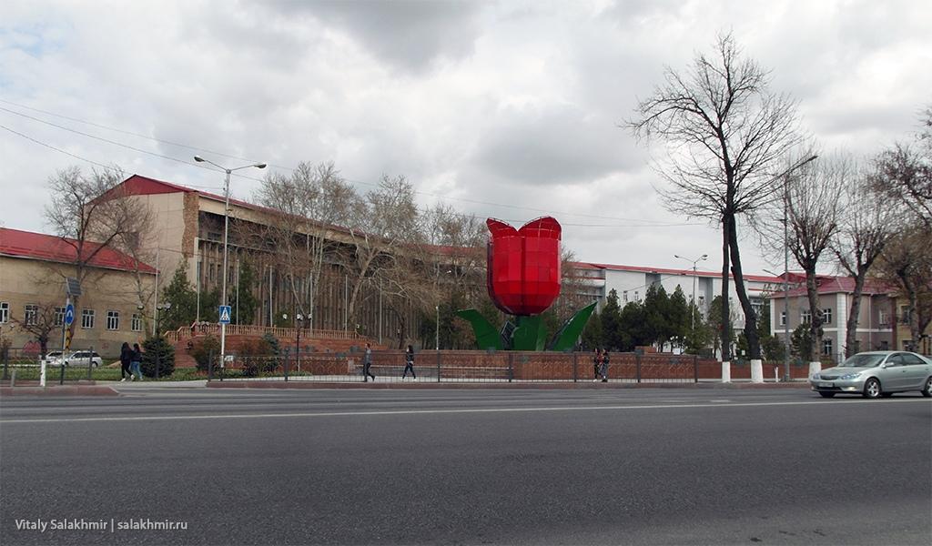 Фонтан тюльпан, Шымкент 2019