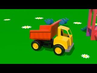 На детской площадке - Капуки Кануки мультфильмы про машинки - грузовик - считаем от 1 до 3