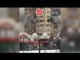 В Красногорске горит жилой дом.
