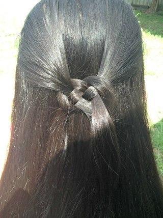 Как сделать необычную причёску. (2 фото) - картинка