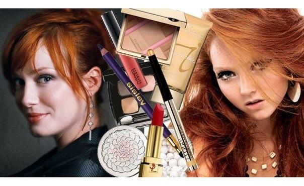 Правильный макияж для рыжей девушки