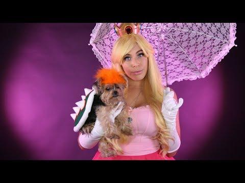 Princess Peach Bowser Cosplay w/ your PET! - DIY