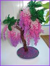 Глициния - Фото цветов и деревьев из бисера - Фотоальбомы - Бисеромания.