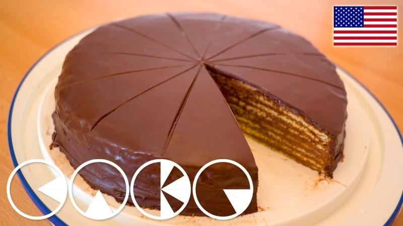 Классический немецкий баварский шоколадный торт Принц- регент PRINZREGENTEN TART (plus Recipe)