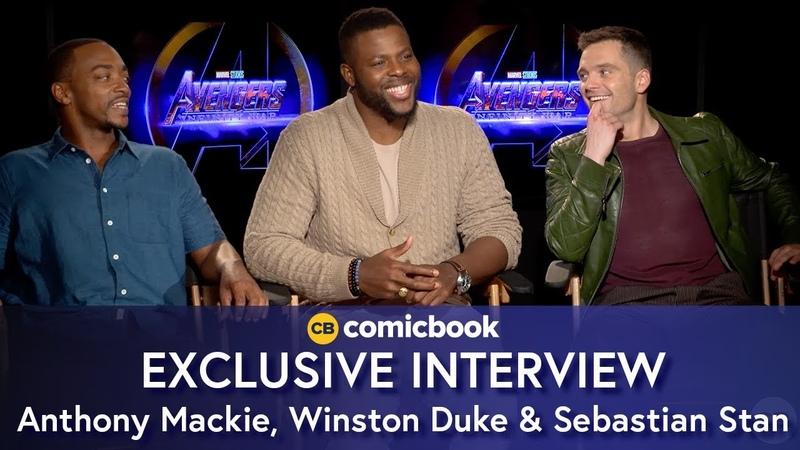 Anthony Mackie, Winston Duke, and Sebastian Stan Talk Avengers Infinity War