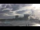 Керченский пролив Шторм Красиво волны бьются Жуковка Переправа
