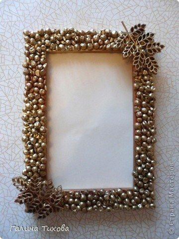 Materiales gr ficos gaby marco de fotos decorado con for Decoracion de espejo con material reciclable