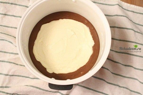 Шоколадный пирог с творожной начинкой в мультиварке Ингредиенты Для