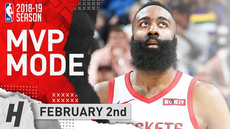 James Harden MVP Highlights Rockets vs Jazz 2019.02.02 - 43 Pts, 12 Reb, 5 Ast 6 Stls, 4 Blocks