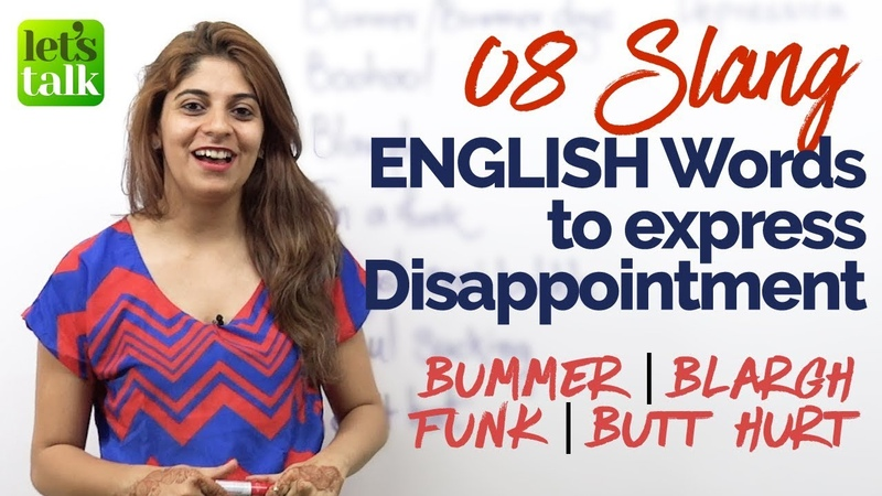 Learn 8 Slang English Words to express disappointment English speaking Practice Lesson