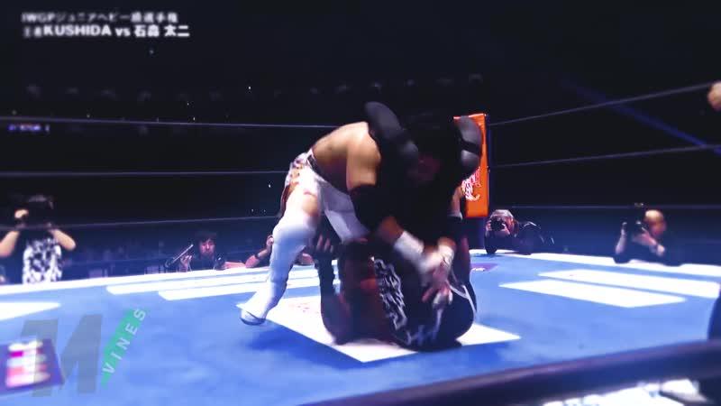 Bone Soldier Taiji Ishimori vs Time Splitter KUSHIDA Wrestle Kingdom 13 Highlights