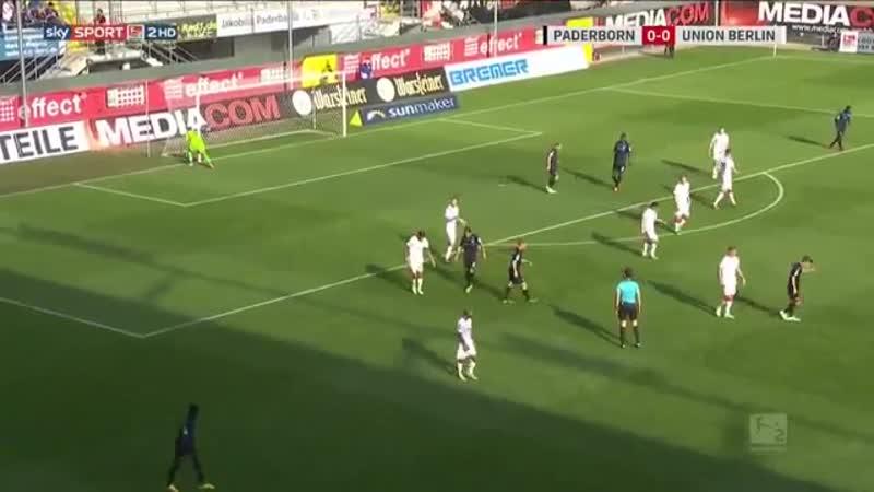 Падерборн 0:0 Унион Берлин, 2-я Бундеслига, 10-й тур, 21.10.2018