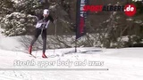 Cross-country skiing technique Classic double-pole with intermediate step