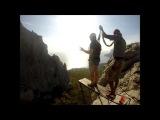 Мокрый Вылет Ильяс-кая Прыжки с веревкой в Крыму с командой Скайлайн