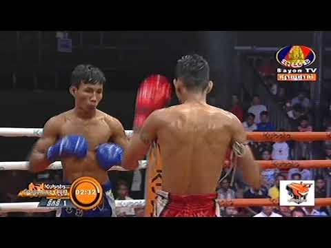 Kun Khmer, ប៊ុន សុធា Vs ខេម ចាន់, Bun Sothea Vs Khem Chan, Bayon boxing 04 Jan 2019   Fights Zone