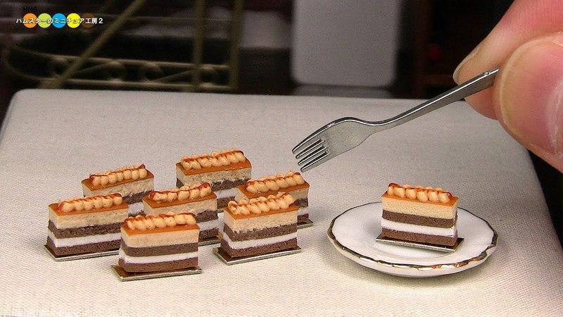 DIY Miniature Caramel Cake ミニチュアキャラメルケーキ作り Fake food