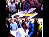 This Pastor is lying to people and claiming he resurrected this person, just look at the mouth you can see the tongue moving. Th